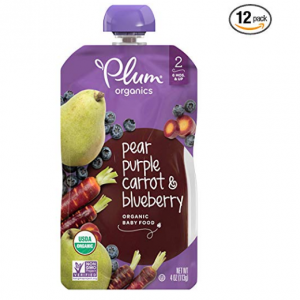 Plum Organics Stage 2, Organic Baby Food, Pear, Purple Carrot and Blueberry