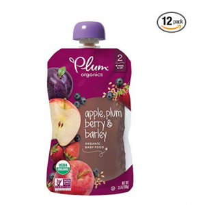 Plum Organics Stage 2, Organic Baby Food, Apple, Plum, Berry and Barley