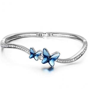 "BRILLA TAETEA Women's 7"" Bracelet Bangle Fashion Jewelry with Swarovski Crystals"