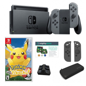 Nintendo Switch Bundle with Pokemon Let's Go Travel Case and Accessories