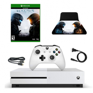 Xbox One S 500GB Console with HALO 5 Game and Controller Stan