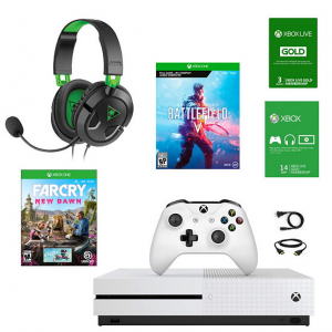 Xbox One S Console w/ Far Cry New Dawn, Battlefield V, Headset