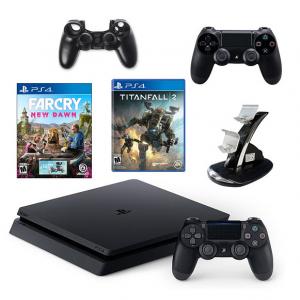 PS4 Slim Console w/ Far Cry New Dawn &Titanfall 2