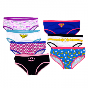 DC Comics Pink & Blue Superhero Underwear Set - Girls