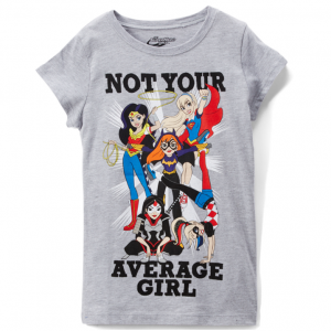 DC Super Hero Girls Gray Heather 'Not Average' Crewneck Tee - Girls
