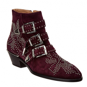 Chloe Studded Susanna Suede Ankle Boot