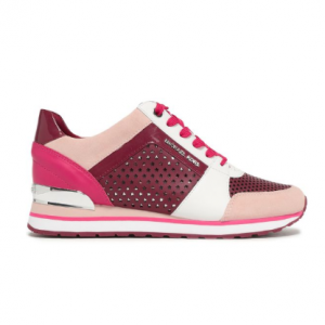 MICHAEL MICHAEL KORS Color-block suede and leather-paneled sneakers