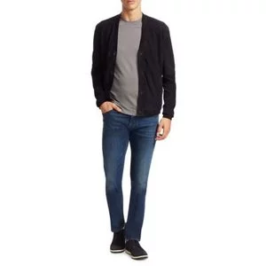 Emporio Armani Perforated Suede Cardigan