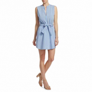 A.L.C. Merritt Sleeveless Tie-Waist Shirtdress