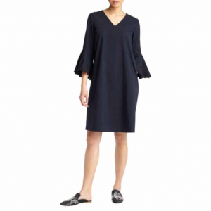 Lafayette 148 New York Bell-Sleeve Shift Dress