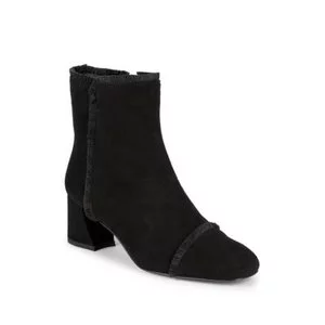 Stuart Weitzman On The Fringe Suede Block-Heel Booties