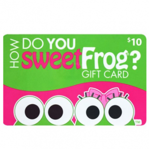 SweetFrog Premium Frozen Yogurt Shop $30 Value Gift Cards - 3 x $10