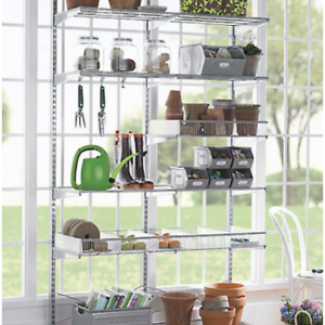 Platinum Elfa freestanding Sunroom Shelving, DIY