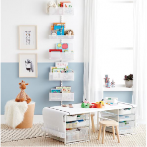 Elfa Kids Playroom Storage: elfa utility Kids Playroom Door & Wall Rack White