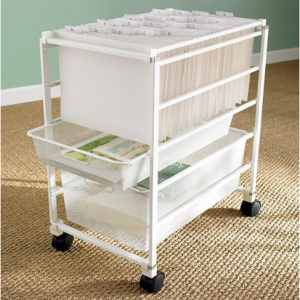 White Elfa Mesh File Carts, DIY