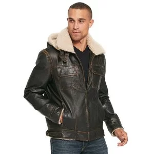 Wilsons Leather Classic Leather Bomber B3 w/ Faux Shearling Collar