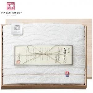 今治謹製白織タオルギフト(木箱入)(バスタオル1)