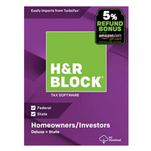 H&R Block Tax Software Deluxe + State 2018 with 5% Refund Bonus Offer