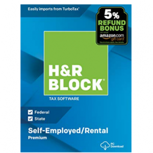 H&R Block Tax Software Premium 2018 with 5% Refund Bonus Offer
