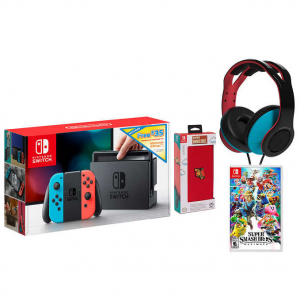 NS Bundle with $35 Nintendo eShop, Super Smash Bros. Ultimate Video Game, Case and Headset@Costco