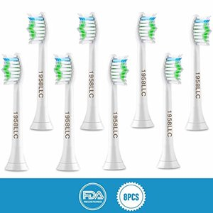 1958LLC Standard Toothbrushes Replacement Heads 8 Packs @ Amazon