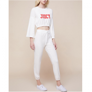 JXJC MICROTERRY RUFFLE SLEEVE PULLOVER