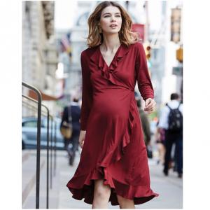 Isabella Oliver Aurelia Ruffled Maternity Dress