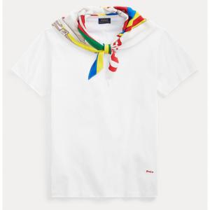 POLO RALPH LAUREN Silk-Neck-Scarf T-Shirt