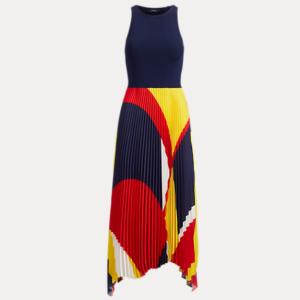 POLO RALPH LAUREN Pleated Georgette Dress