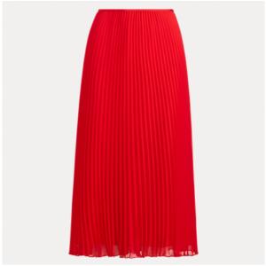 POLO RALPH LAUREN Pleated Georgette Midi Skirt