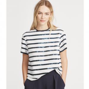 POLO RALPH LAUREN Sequined Striped Shirt