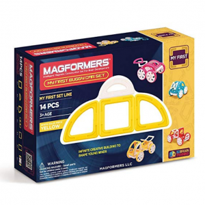 Magformers My First Buggy Car Set, Yellow (14-Pieces) Magnetic Building Blocks, Educational Magnet