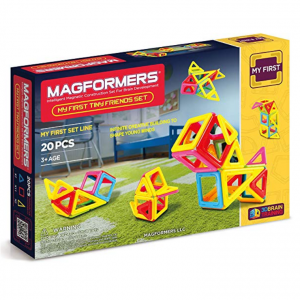 Magformers My First Tiny Friends Set (20-Pieces) Magnetic Building Blocks, Educational Magnetic Ti