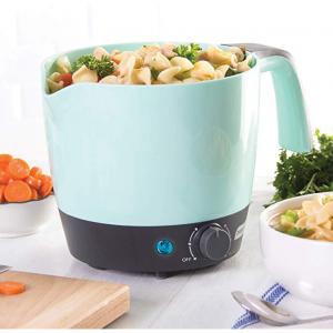 $19.89 DASH DMC100AQ Express Electric Cooker Hot Pot with Temperature Control, 1.2 L Aqua @ Amazon