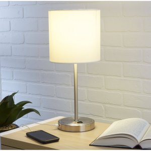 $14.84 Mainstays White Grab and Go Stick Lamp with USB Port, No Bulb Included @ Walmart