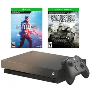 Xbox One X 1TB Gold Rush Special Edition BFV Bundle @ MassGenie