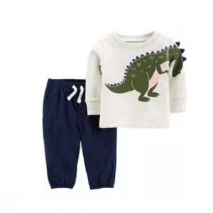 Carter's 2-Piece Dinosaur Top & Poplin Pant Set