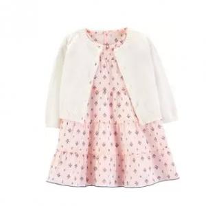 Carter's 2-Piece Floral Dress & Cardigan Set