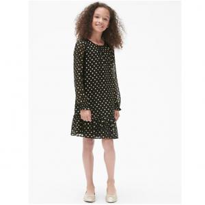 Gap Foil Dot Tier Dress