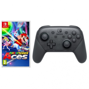 Nintendo Switch Mario Tennis Aces and Pro Controller Bundle @ MassGenie