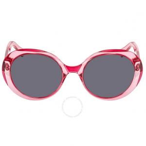 MARC JACOBS Grey, Blue Round Ladies Sunglasses MARC197S 0MU1 IR