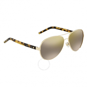 MARC JACOBS Gunmetal Mirror Aviator Ladies Sunglasses