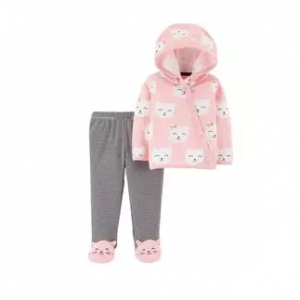 Carter's 2-Piece Side-Snap Cardigan & Footed Pant Set