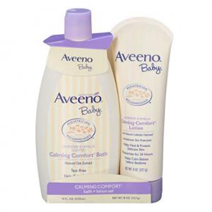 Aveeno Baby Calming Comfort Bath & Lotion Set with Natural Oat Extract @ Amazon