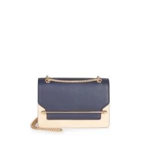 Strathberry East/West Bi-Color Crossbody Bag