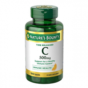 Nature's Bounty Vitamin C Pills and Supplement, Supports Immune Health, 500mg, 100 Capsules