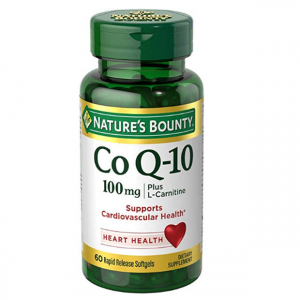 Nature's Bounty Co Q-10 100mg Plus (with L carnitine), 60 Softgels