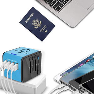 Universal USB Travel Power Adapter-EPICKA All in One Wall Charger AC Power Plug Adapter @ Amazon