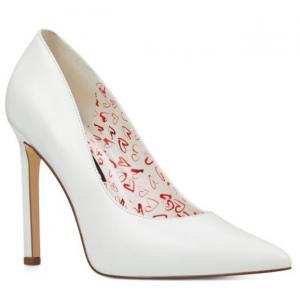 Tatiana Pointy Toe Pumps - White Multi Leather