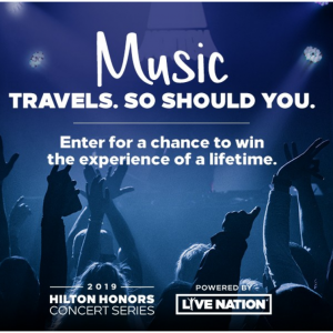 Join in Hilton Honors For Free to win 2 music tickets